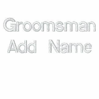Team Groom Groomsman Embroidered Hooded Sweatshirt