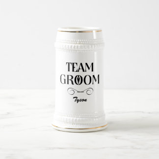 Team Groom - Groomsmen Beer Mug