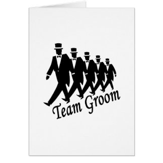 Team Groom Groomsmen Card