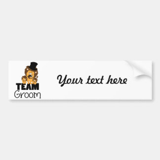 Team groom - lions car bumper sticker