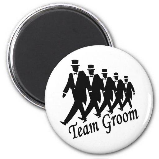 Team Groom (Men) 6 Cm Round Magnet