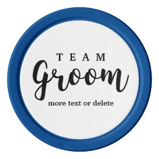 Team Groom Modern Wedding Favors for Groomsmen Poker Chips