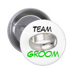 Team Groom Pinback Buttons