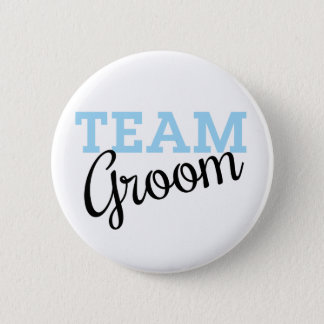 Team Groom Script 6 Cm Round Badge