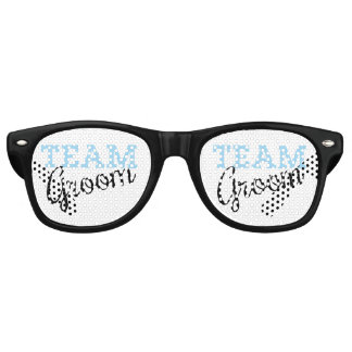 Team Groom Script Retro Sunglasses