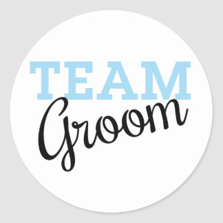 Team Groom Script Round Sticker