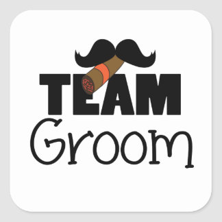 Team Groom Square Sticker