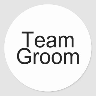 Team Groom Stickers