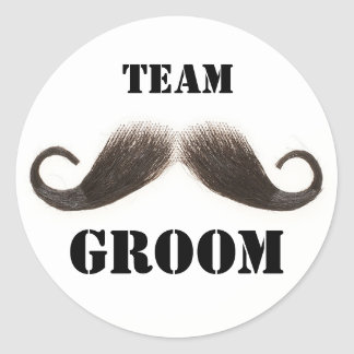 Team Groom Stickers
