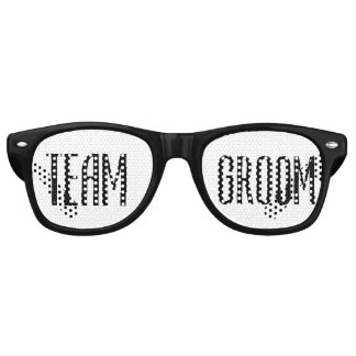 Team Groom Sunglasses Cool Modern Black and White