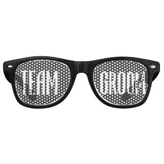 Team Groom Sunglasses Cool Modern Black and White