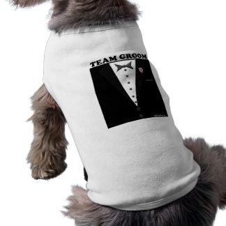 Team Groom (tuxedo) Sleeveless Dog Shirt
