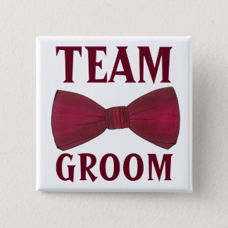 TEAM GROOM Wedding Groomsmen Bow Tie Bowtie Button