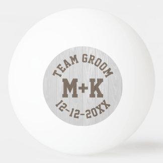 Team Groom Wedding Ping Pong Ball