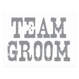 Team Groom Western Grey Postcard