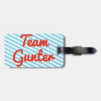 Team Gunter Travel Bag Tag