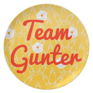 Team Gunter Party Plate