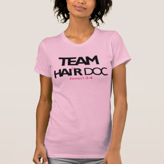 Team Hair Doc 911 (Racerback) Pink T-Shirt