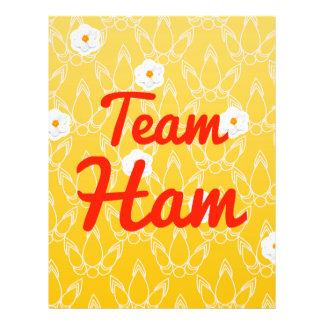 Team Ham Personalized Flyer