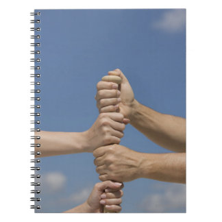 Team Hands on Bat Spiral Notebook