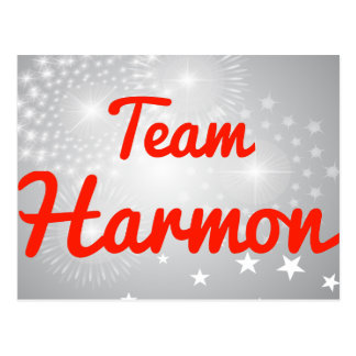 Team Harmon Postcard