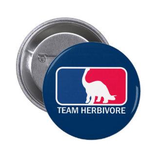 Team Herbivore Vegetarian Vegan 6 Cm Round Badge