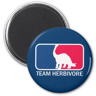 Team Herbivore Vegetarian Vegan 6 Cm Round Magnet