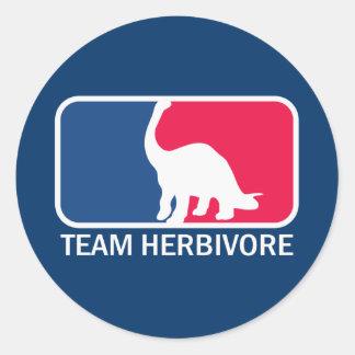 Team Herbivore Vegetarian Vegan Round Sticker