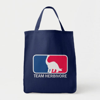 Team Herbivore Vegetarian Vegan Tote Bags