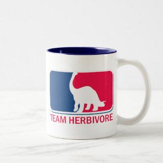 Team Herbivore Vegetarian Vegan Two-Tone Mug