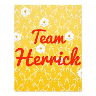 Team Herrick Personalized Flyer