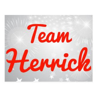 Team Herrick Post Card