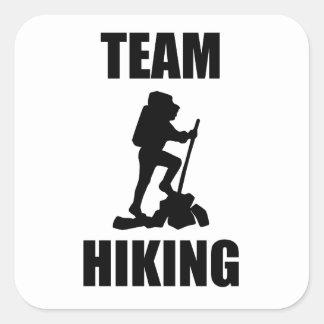 Team Hiking Square Sticker