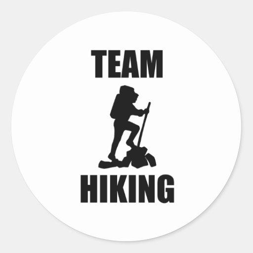 Team Hiking Sticker