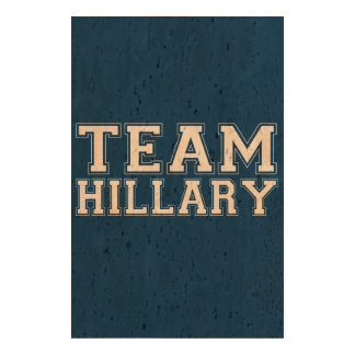 TEAM HILLARY BLACK 2016 CORK PAPER