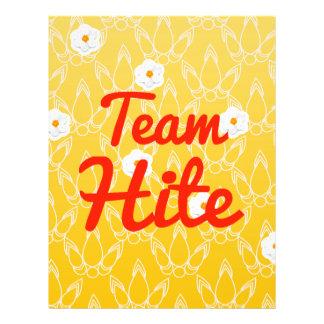 Team Hite Flyer Design