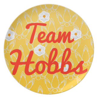 Team Hobbs Party Plates
