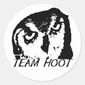 Team Hoot Classic Logo sticker! Round Sticker