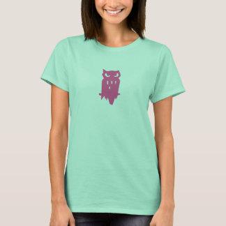 Team Hoot Loan owl Pink T-Shirt