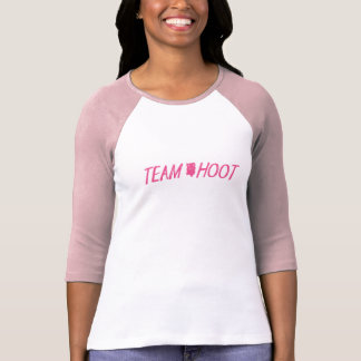 Team Hoot Logo Pink T-Shirt