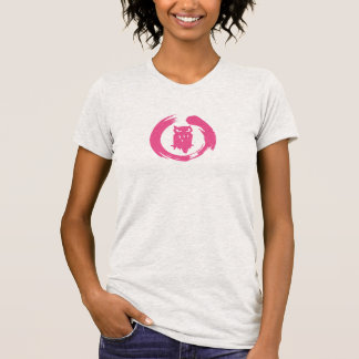 Team Hoot Zen Pink Logo T-Shirt