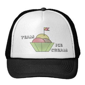 Team Ice Cream cap Mesh Hats