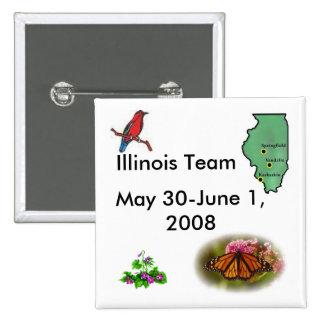 Team Illinois - State Symbols 15 Cm Square Badge