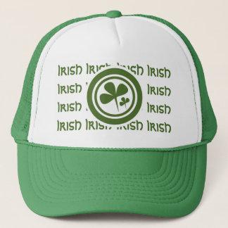 Team Irish 5 Green White Logo Trucker Hat