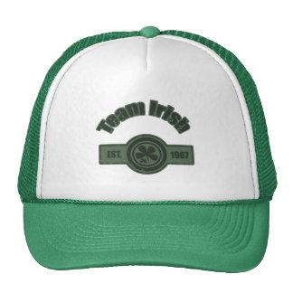 Team Irish Two Tone Green Distressed Logo Cap