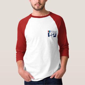 Team ISU on Mars Men's 3/4 Sleeve Raglan T-Shirt