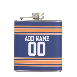 Team Jersey Stripes Custom Name and Number Flasks