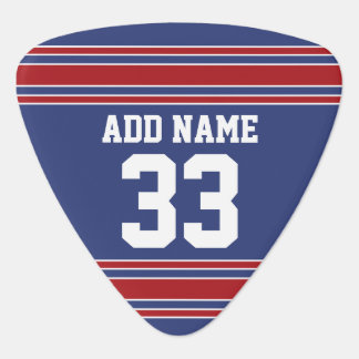 Team Jersey Stripes Custom Name and Number Plectrum