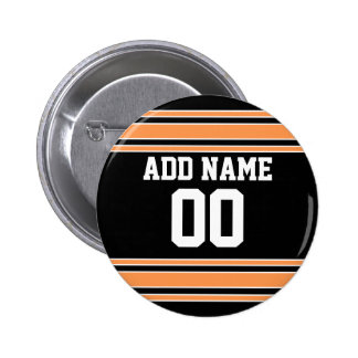 Team Jersey with Custom Name and Number 6 Cm Round Badge