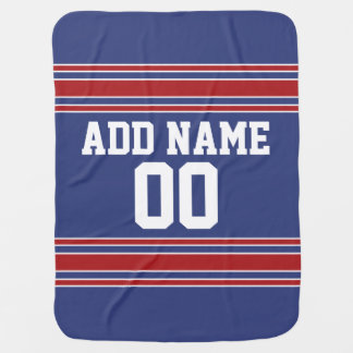 Team Jersey with Custom Name and Number Baby Blanket
